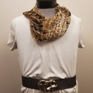 Classic abstract print scarf